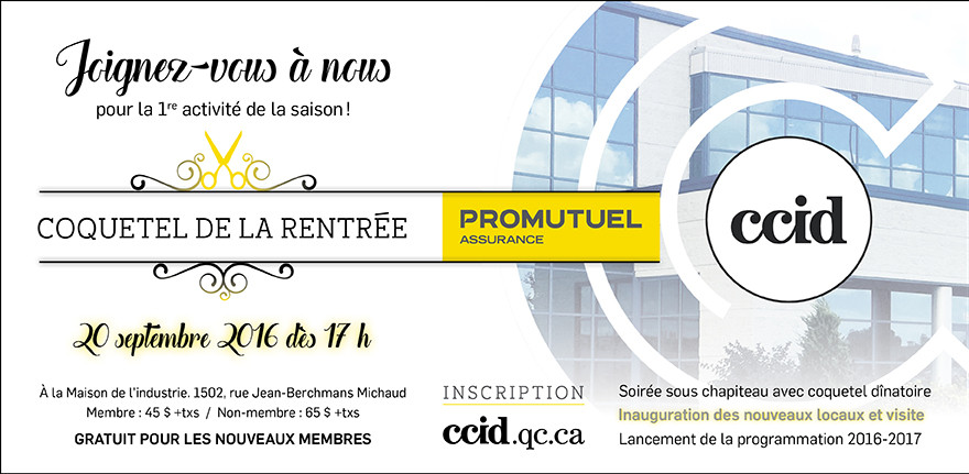 Programmation chambre de commerce et d 39 industrie de drummond for Chambre de commerce drummondville