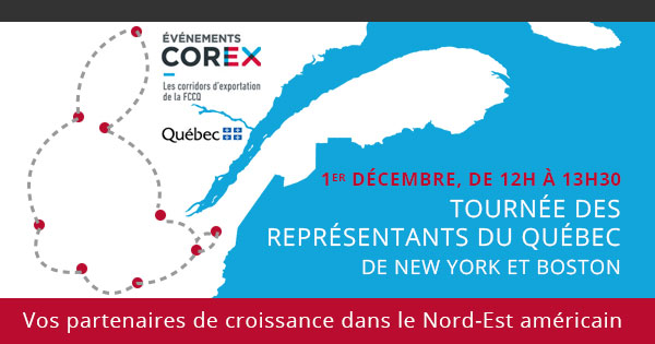 Tourn e des repr sentants du qu bec new york et boston for Chambre de commerce new york